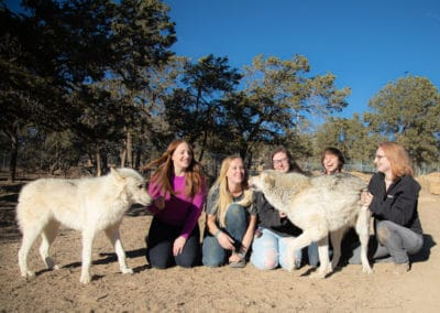 Left to right: Lyca, Shaina, Brittany, Quinn, Megan, Vic, and Molly.